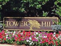 Tower Hill Sign in Red Bank
